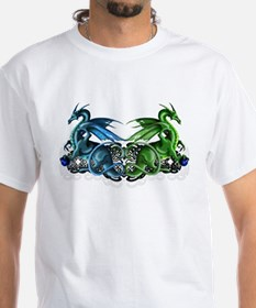 Twin Dragons Celtic Design - Shirt
