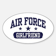 Air Force Girlfriend Sticker (Oval)