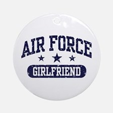 Air Force Girlfriend Ornament (Round)