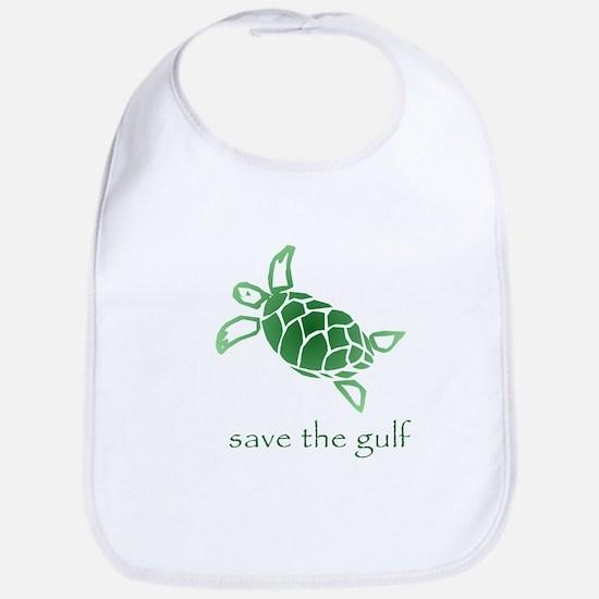 save the gulf - green sea tur Bib