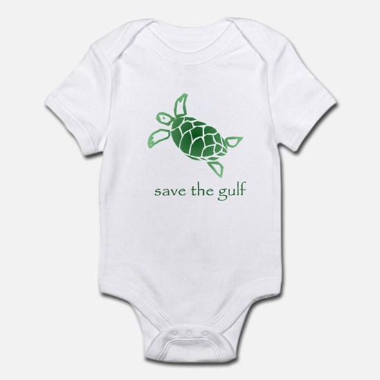 save the gulf - green sea tur Infant Bodysuit