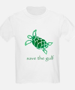 save the gulf - green sea tur T-Shirt