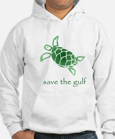 save the gulf - green sea tur Jumper Hoody