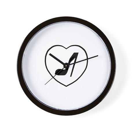 Love Stiletto Heart Wall Clock