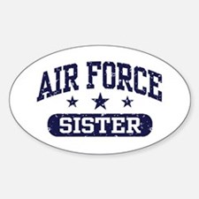 Air Force Sister Sticker (Oval)