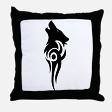 Funny Wolf Throw Pillow
