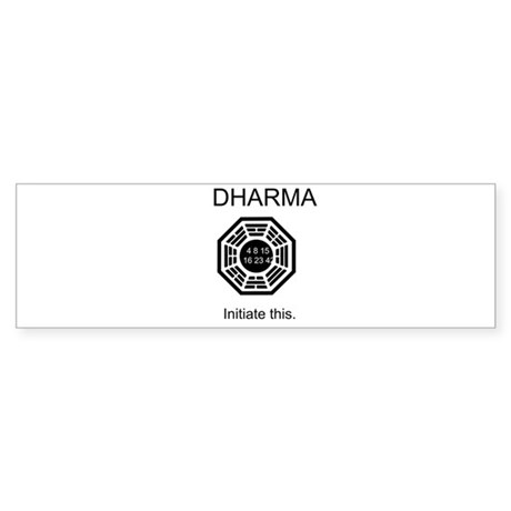 Dharma - Initiate This Sticker (Bumper)