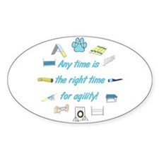Agility Time Oval Decal