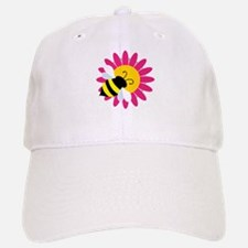 Bumble Bee on Flower Baseball Baseball Baseball Cap