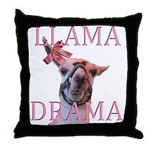 LLAMA DRAMA Throw Pillow