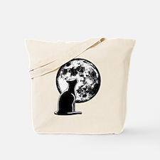 Howl at the Moon Cat Tote Bag