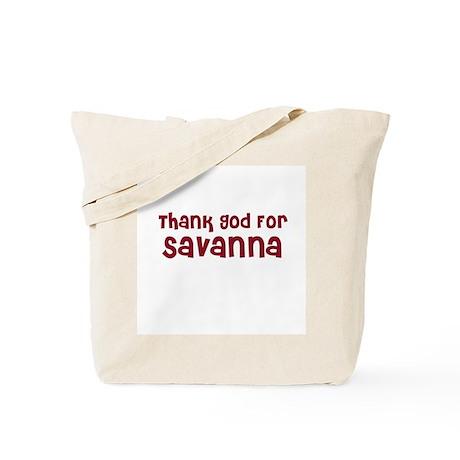 Thank God For Savanna Tote Bag