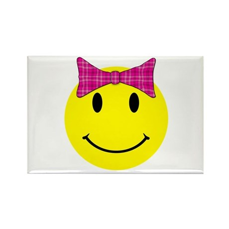 Happy Face Girl Rectangle Magnet (10 pack)