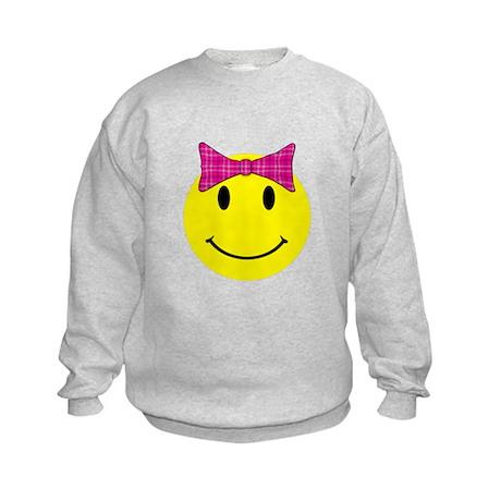 Happy Face Girl Kids Sweatshirt