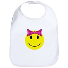 Happy Face Girl Bib