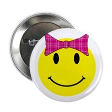 """Happy Face Girl 2.25"""" Button (10 pack)"""