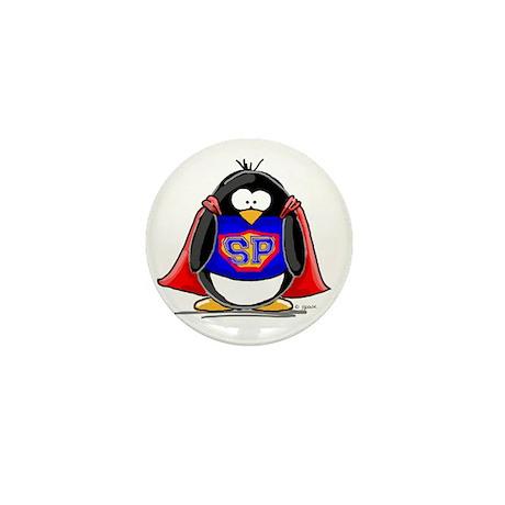 Superhero penguin Mini Button (10 pack)