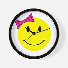 Girl Happy Face Wall Clock