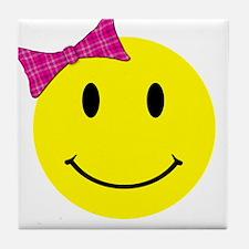 Girl Happy Face Tile Coaster