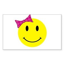 Girl Happy Face Decal