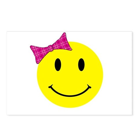 Girl Happy Face Postcards (Package of 8)