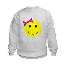 Girl Happy Face Sweatshirt