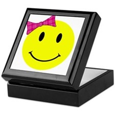 Girl Happy Face Keepsake Box