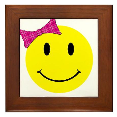 Girl Happy Face Framed Tile