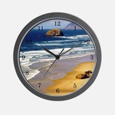 Beach Scene Wall Clock