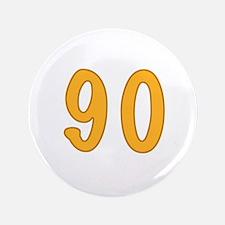 """90th Birthday (Orange) 3.5"""" Button"""