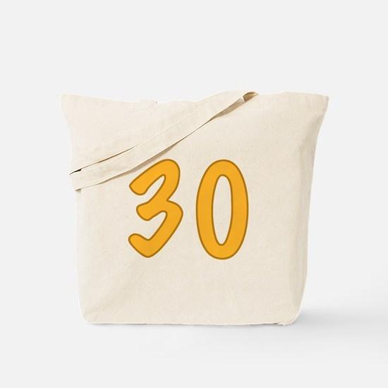 30th Birthday (Orange) Tote Bag