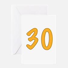 30th Birthday (Orange) Greeting Card