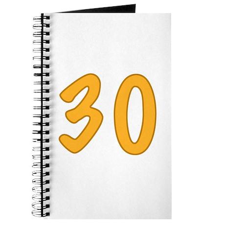 30th Birthday (Orange) Journal
