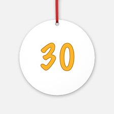 30th Birthday (Orange) Ornament (Round)