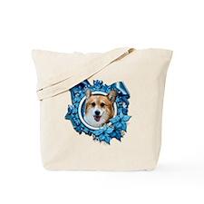Blue Snowflake - Corgi Tote Bag