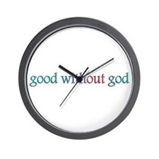 Good without god Wall Clock