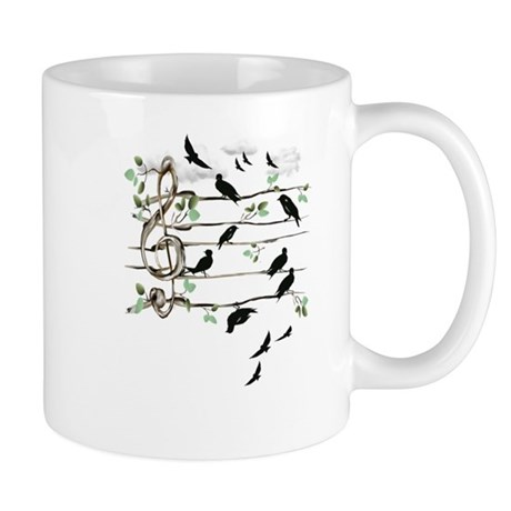 Musical Note Birds Mug