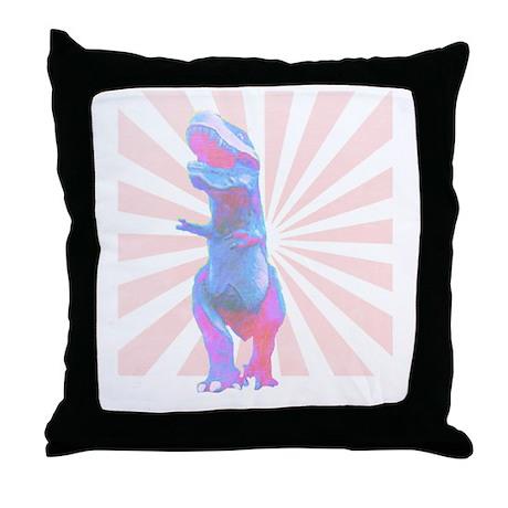 Retro-saur Throw Pillow