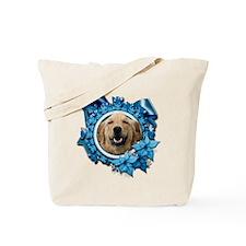 Blue Snowflake - Retriever Tote Bag