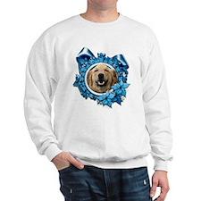 Blue Snowflake - Retriever Sweatshirt