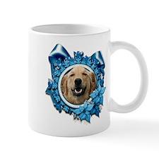 Blue Snowflake - Retriever Small Mug