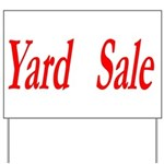 Yard Sale #1 Yard Sign