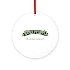 Auditing - Sleep Ornament (Round)