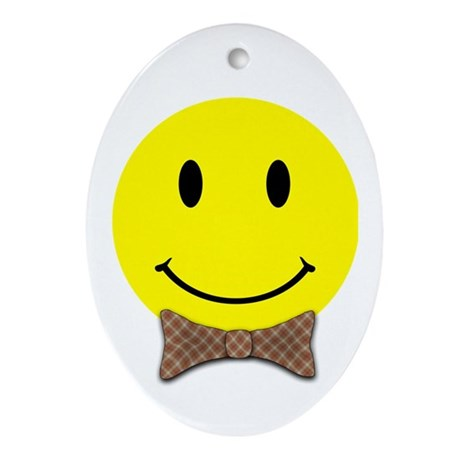 Smiley Face Ornament (Oval)