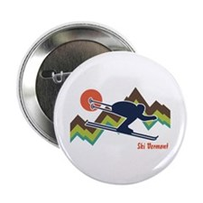 """Ski Vermont 2.25"""" Button"""