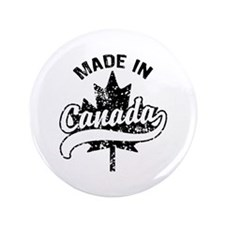 """Made In Canada 3.5"""" Button"""