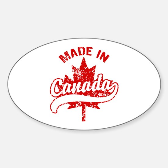 Made In Canada Sticker (Oval)
