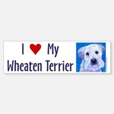 Wheaten Terrier Bumper Bumper Bumper Sticker