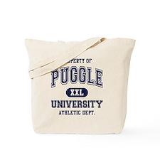 Puggle University Tote Bag