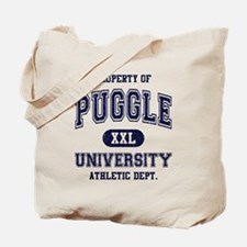 Puggle University Tote Bag